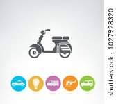 transportation and vehicle icons | Shutterstock .eps vector #1027928320
