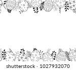 easter eggs frame from easter... | Shutterstock .eps vector #1027932070