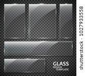 glass plates set. glass banners ... | Shutterstock .eps vector #1027933558