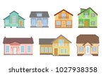 detailed cottage or country... | Shutterstock .eps vector #1027938358