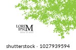 green summer background. tree... | Shutterstock .eps vector #1027939594