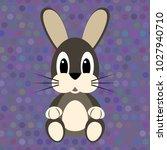 cartoon rabbit on the seamless... | Shutterstock .eps vector #1027940710