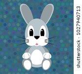 cartoon rabbit on the seamless...   Shutterstock .eps vector #1027940713
