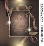 vip invitation luxury banners... | Shutterstock .eps vector #1027942093