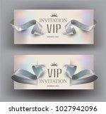 vip invitation elegant cards... | Shutterstock .eps vector #1027942096