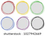 round frames in six colors... | Shutterstock .eps vector #1027942669
