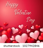 happy valentine card template... | Shutterstock .eps vector #1027942846