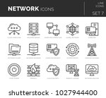 collection of modern thin line... | Shutterstock .eps vector #1027944400