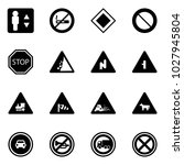 solid vector icon set  ... | Shutterstock .eps vector #1027945804
