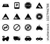 solid vector icon set   taxi... | Shutterstock .eps vector #1027946788