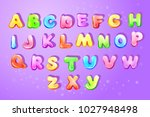 vector colorful kids english... | Shutterstock .eps vector #1027948498