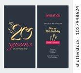 20 years anniversary invitation ... | Shutterstock .eps vector #1027948624