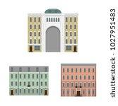 old houses of the european city....   Shutterstock .eps vector #1027951483