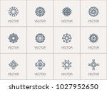 linear ornamental logo... | Shutterstock .eps vector #1027952650