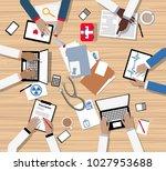 doctors and medical... | Shutterstock .eps vector #1027953688