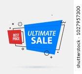 ultimate sale banner template...   Shutterstock .eps vector #1027957300