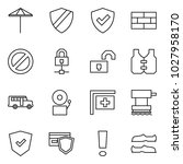 flat vector icon set   umbrella ... | Shutterstock .eps vector #1027958170