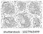 line art vector hand drawn...   Shutterstock .eps vector #1027965499