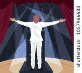 artist  man in white suit... | Shutterstock .eps vector #1027966633