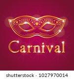 beautiful vector carnival... | Shutterstock .eps vector #1027970014
