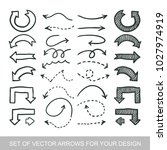different black arrows icons ... | Shutterstock .eps vector #1027974919