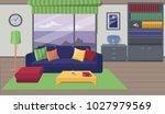 furniture. interior. living... | Shutterstock .eps vector #1027979569