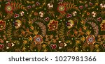seamless floral pattern. hand... | Shutterstock .eps vector #1027981366