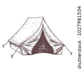 camping tent for tourism ... | Shutterstock .eps vector #1027981534