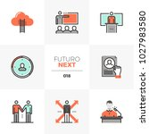 semi flat icons set of business ... | Shutterstock .eps vector #1027983580