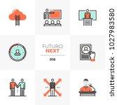 modern flat icons set of... | Shutterstock .eps vector #1027983580