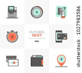 modern flat icons set of credit ... | Shutterstock .eps vector #1027983586