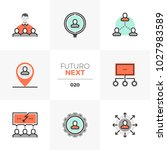 modern flat icons set of human... | Shutterstock .eps vector #1027983589