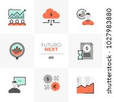 semi flat icons set of stock... | Shutterstock .eps vector #1027983880