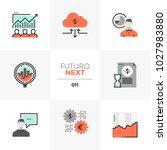 modern flat icons set of stock... | Shutterstock .eps vector #1027983880