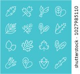 collection of line white icons... | Shutterstock .eps vector #1027985110