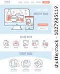 line illustration of healthy... | Shutterstock .eps vector #1027985119
