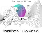 future technologies in cosmos... | Shutterstock .eps vector #1027985554