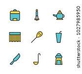 kitchen icon set vector...
