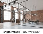 loft open space office with a... | Shutterstock . vector #1027991830