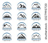 collection of twelve mountain... | Shutterstock .eps vector #1027993720