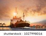 transportation of lpg gas... | Shutterstock . vector #1027998016