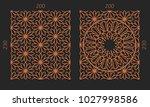laser cutting set. woodcut... | Shutterstock .eps vector #1027998586