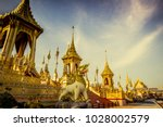 exhibition on royal cremation... | Shutterstock . vector #1028002579