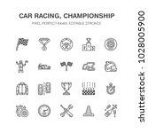 car racing vector flat line... | Shutterstock .eps vector #1028005900
