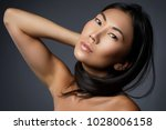 portrait of beautiful asian... | Shutterstock . vector #1028006158