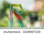 selective focus on multi color... | Shutterstock . vector #1028007220