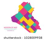 map of iraq   modern geometric... | Shutterstock .eps vector #1028009938