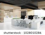 modern office corner with wood...   Shutterstock . vector #1028010286