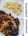Small photo of seafood sauce pasta or pasta allo scoglio
