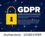 european gdpr concept flyer...   Shutterstock .eps vector #1028015989